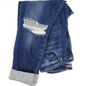 Joe's Jean's High Rise Cuffed Distressed Crop 29 8